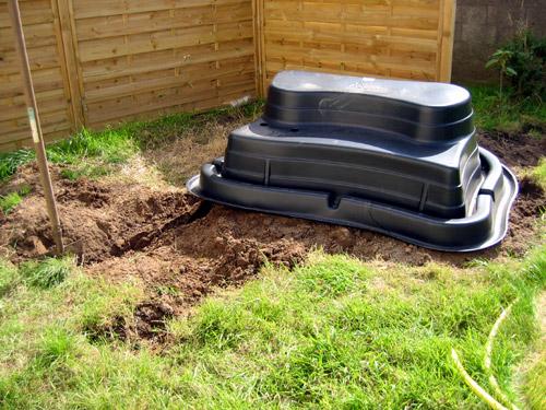 installation d'un bassin de jardin