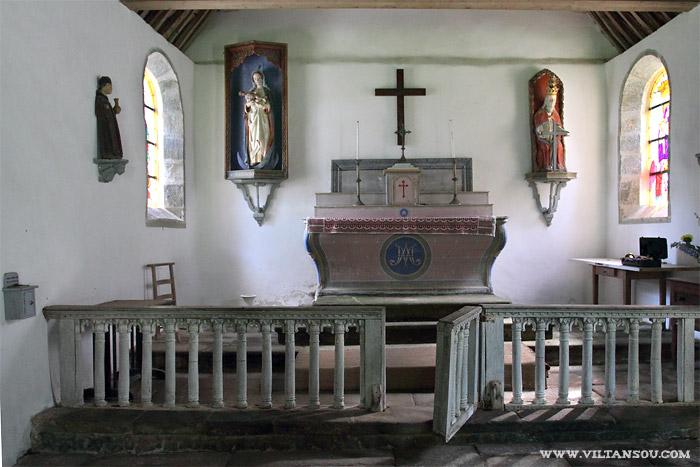 Le château de Maillé : l'intérieur de la chapelle