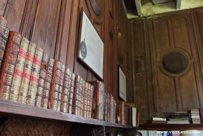 Le château de Maillé : La bibliothèque