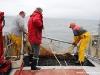 Vedette océanographique Albert Lucas : mise à l\'eau du chalut
