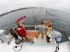 Vedette océanographique Albert Lucas : le chalut est à l\'eau