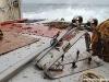 Vedette océanographique Albert Lucas : les patins du chalut de fond